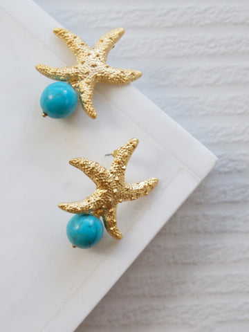 Gold Coast - Anitha Earrings in Turquoise