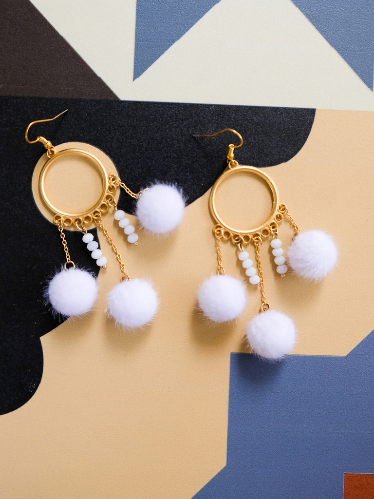 La Boqueria - Vida Earrings in White