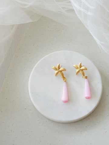 Island Girl Blush - Rosette Earrings