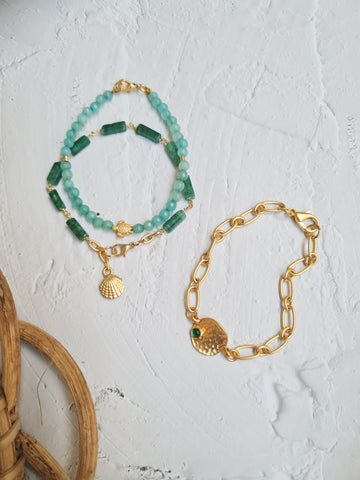 Tropical Greens - Kali Bracelet Trio