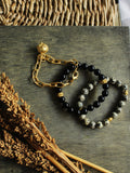 Midnight Summer Dream - Granite Bracelet Trio