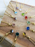 August Birthstone Necklace