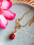 Island Girl Blush - Cherry Infinity Necklace