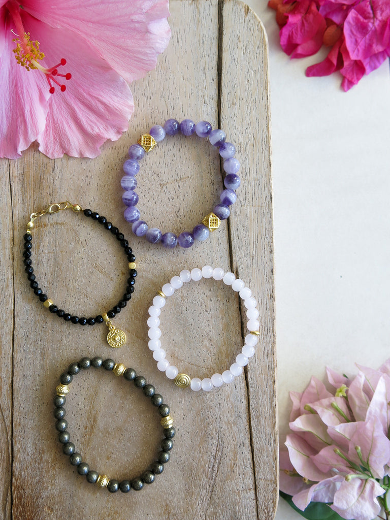 Violet and Lilies - Dusk Bracelet Set