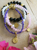 Violet and Lilies - Wisteria Bracelet Set