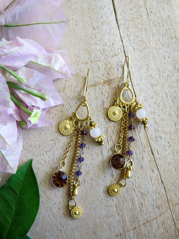 Violet and Lilies - Salvia Earrings