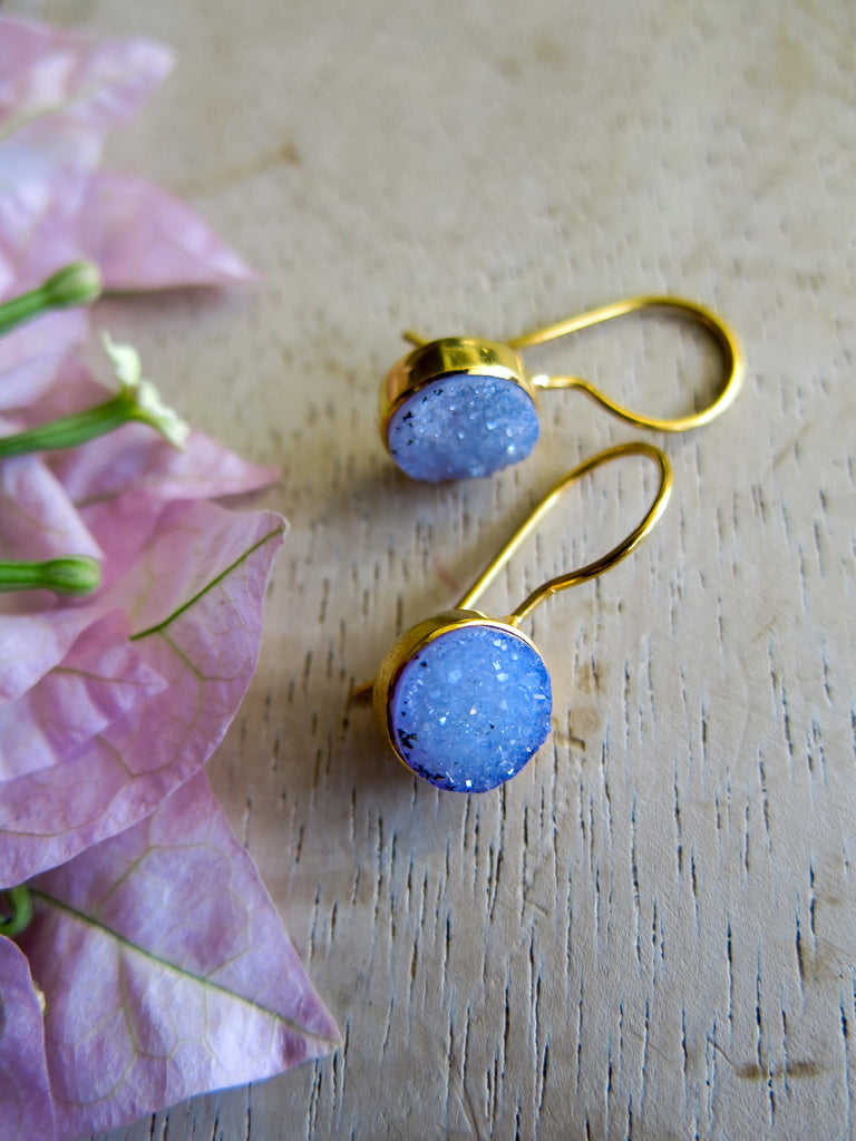 Violet and Lilies - Sheen Earrings