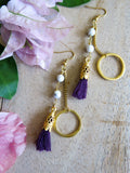 Violet and Lilies - Lunaria Earrings