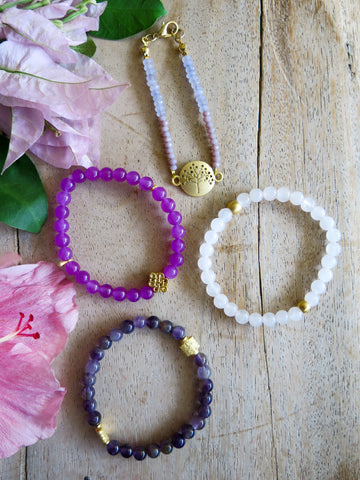 Violet and Lilies - Hellewise Bracelet Set