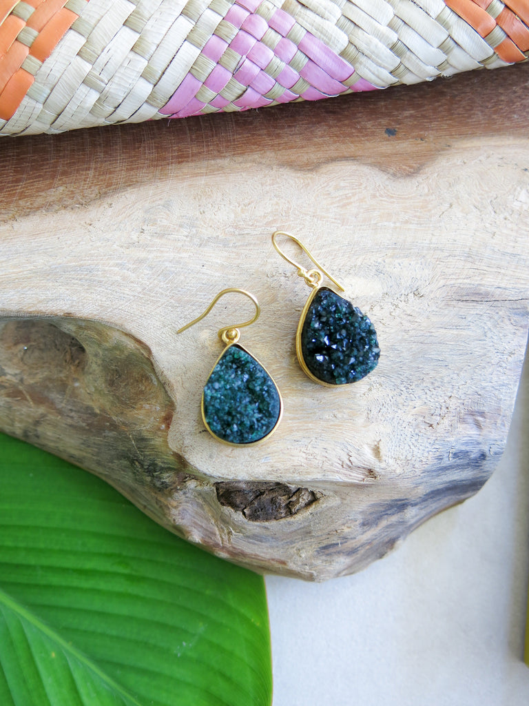 Tropical Greens - Poplar Earrings