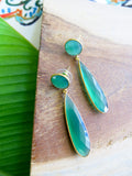 Tropical Greens - Clover Earrings