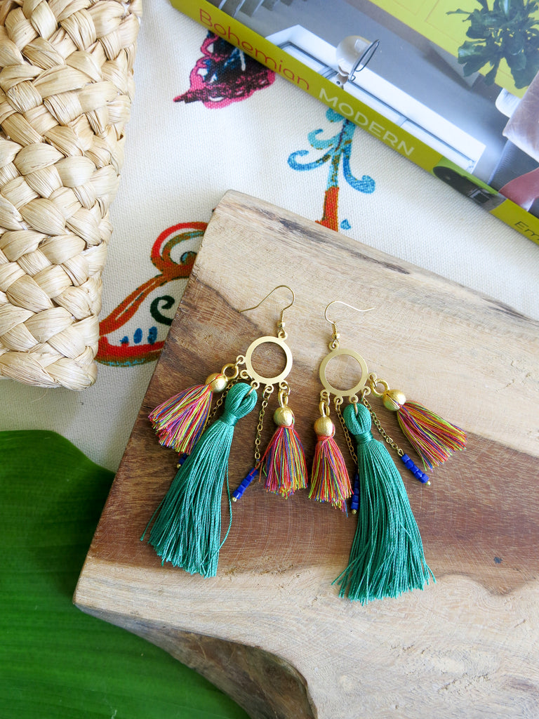 Tropical Greens - Lush Earrings