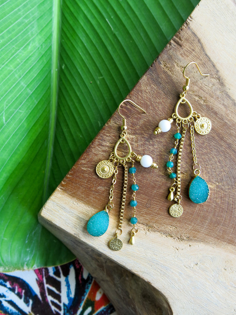 Tropical Greens - Kauri Earrings