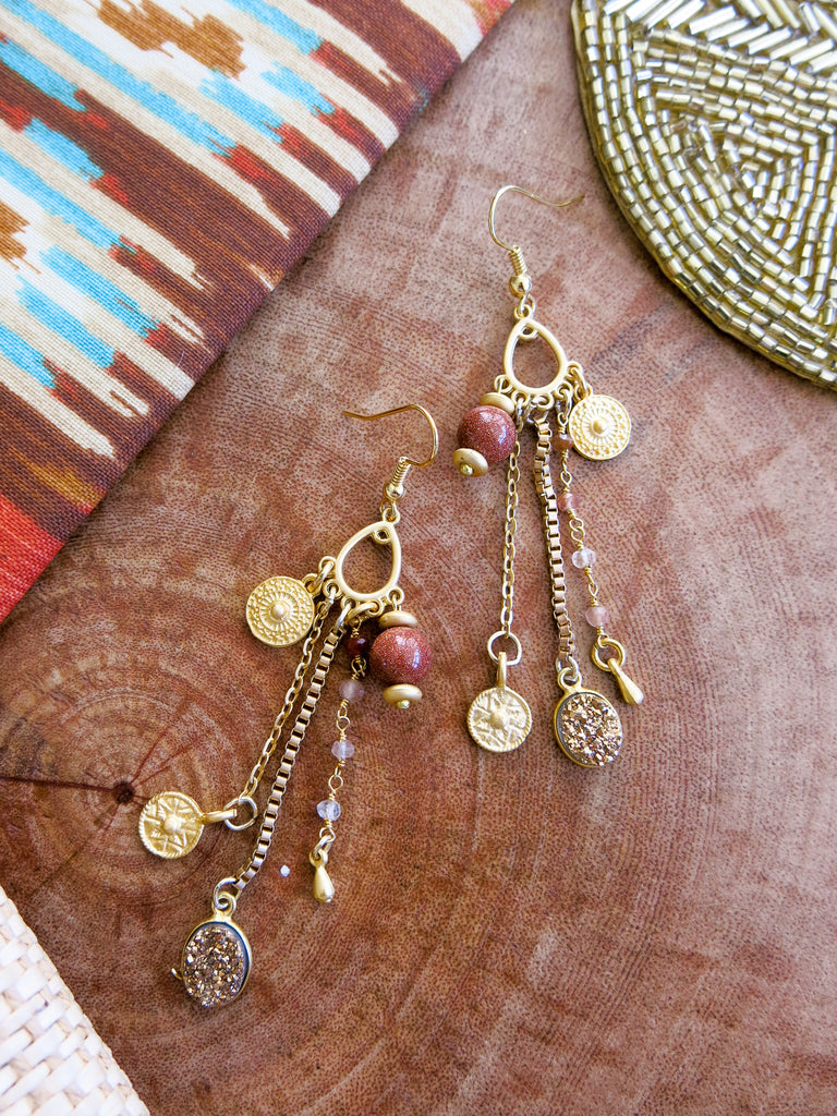 Golden Glow - Amber Earrings