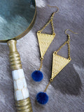 Savanna - Cape Earrings in Blue
