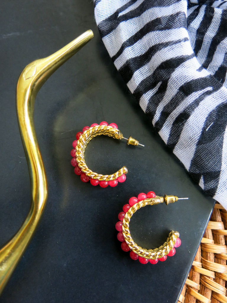 Savanna - Namib Earrings in Pink