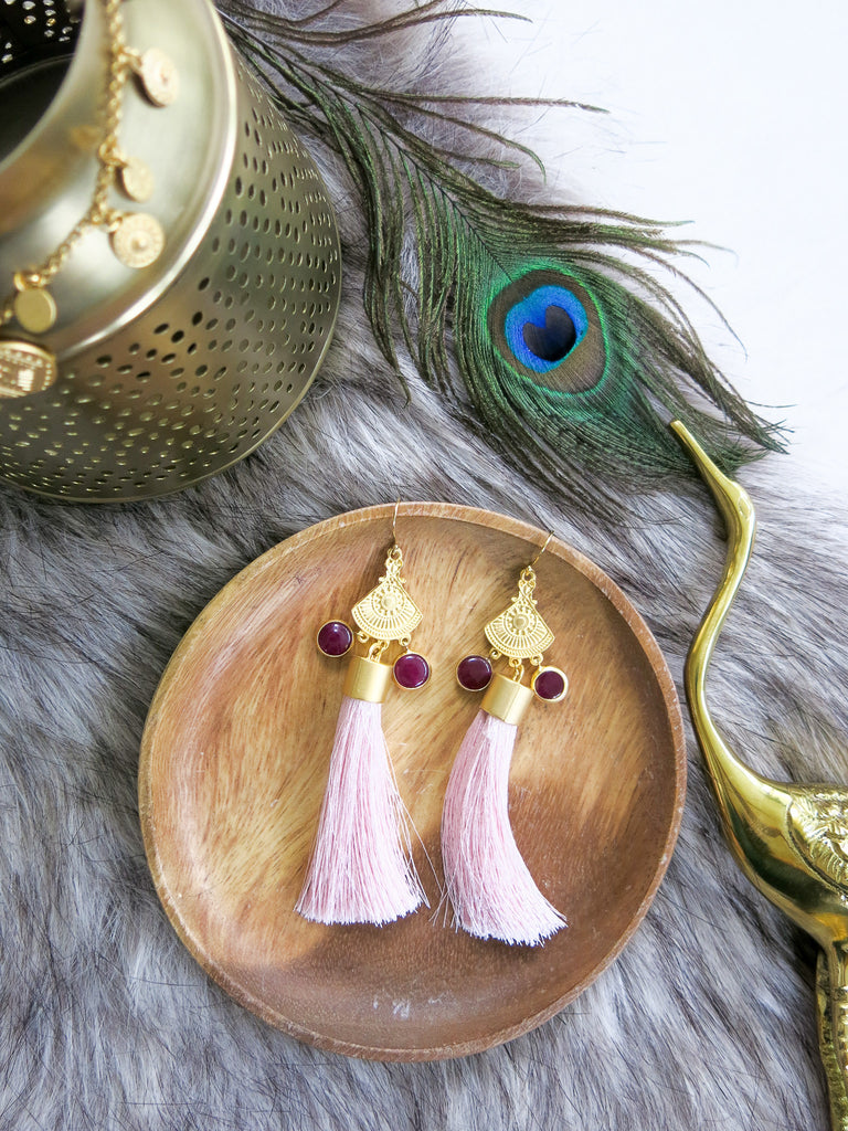 Savanna - Modena Earrings in Blush