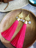 Savanna - Modena Earrings in Hot Pink