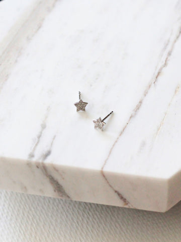 Heyjow Luxe - Aurora Earrings in White Gold