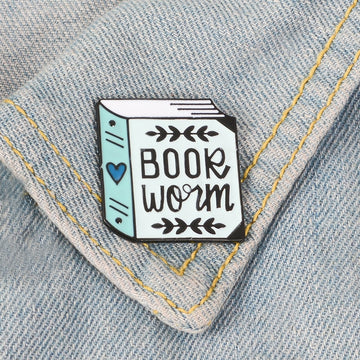 Book Worm Enamel Lapel Pin