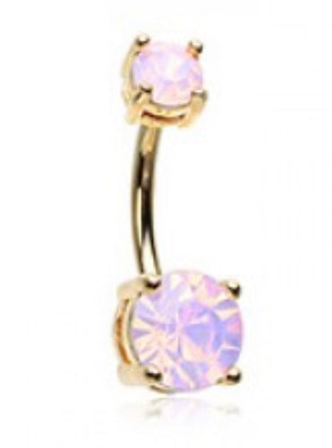 Brilliant Sparkle Opalescent Belly Ring