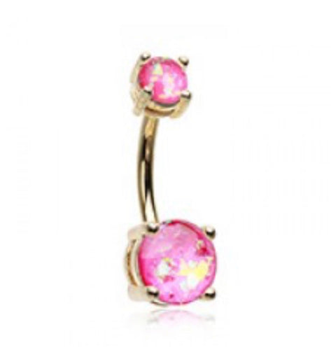 Golden Opal Sparkle Belly Ring