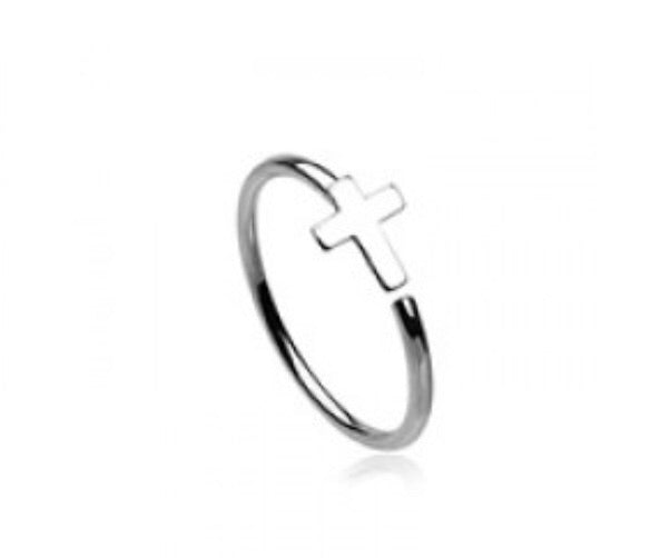 Silver Cross Nose Ring