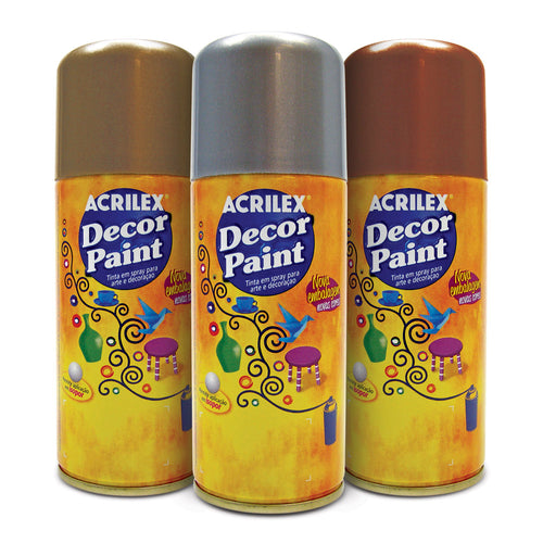 Tinta em Spray Decor Paint para pintura decorativa 150ml - Acrilex