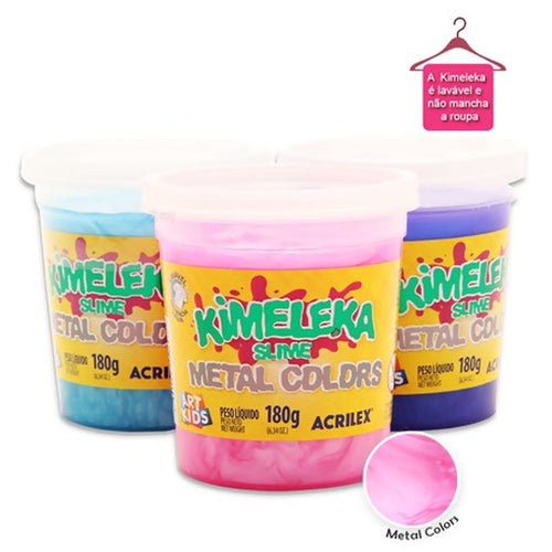 Kimeleka Slime Metal Colors Acrilex 180g Art Kids