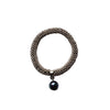Studio G Snake Braid Bracelet with Drop Pearl Pendant