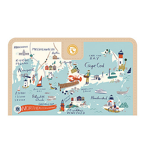 Spartina Northeastern Harbors Snap Wallet