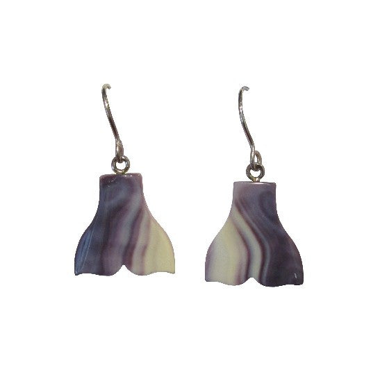 Wampum Whale Tail Earrings