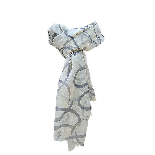 Ladies Geometric Wool Scarf
