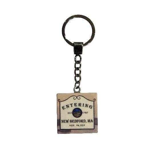 Entering New Bedford Tile Key Ring