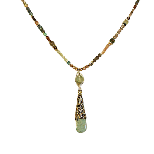 Anne Vaughan Convertible Amazonite Pendant Necklace
