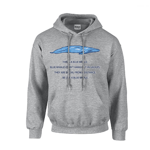 Be Like A Blue Whale Hooded Sweatshirt