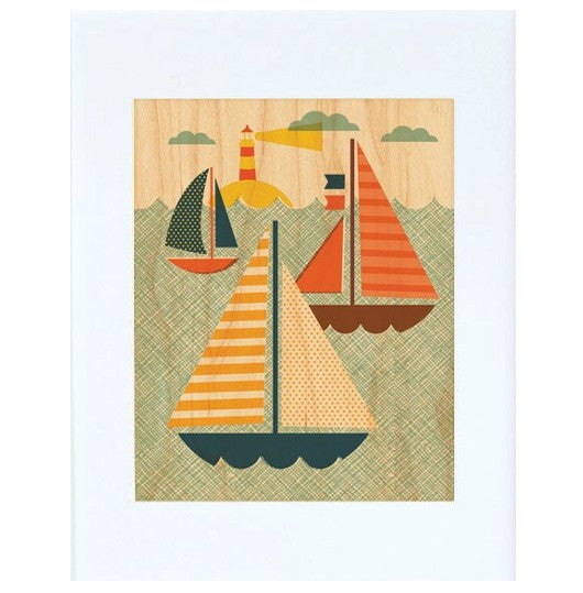 By The Sea Maple Veneer Print
