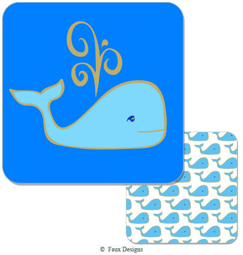 Printed Whale Coasters