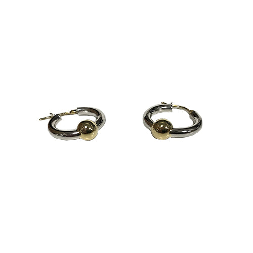 Cape Cod Hoop Earrings Single Ball