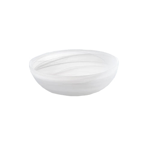 Frosted Shallow Bowl