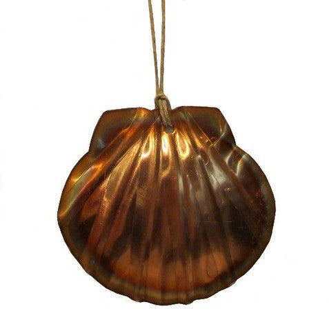 Copper Scallop Ornament