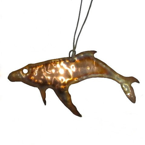 Copper Humpback Whale Ornament