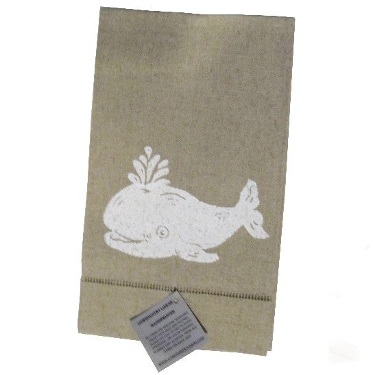 Low Country Whale Linens Guest Towel