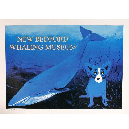 The Blue Dog Meets the Blue Whale by George Rodrigue