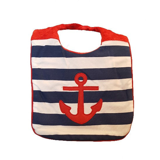 Anchors Away Minky Bib