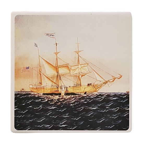 Catalpa Whaling Tile Coaster