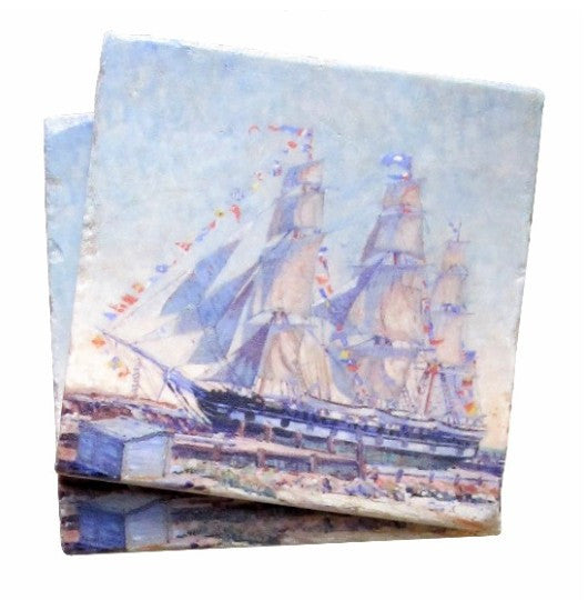 Charles W. Morgan Tile Coaster