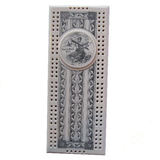 New Bedford Scrimshaw Cribbage Board