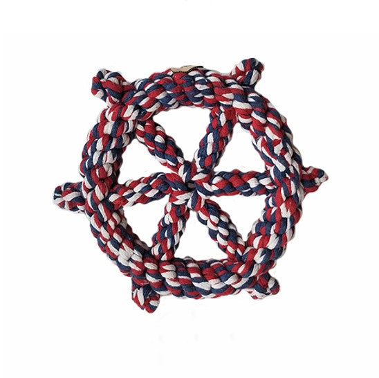 Rope Ship Wheel Chew Toy