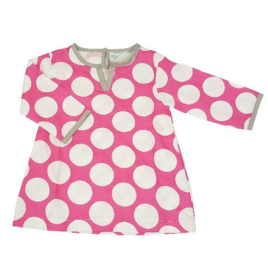 Toddler Pink Dot or Blue Stripe Beach Cover-up